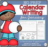 No Prep Calendar Writing Workbook for January