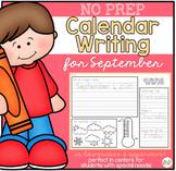 No Prep Calendar Writing Workbook for September