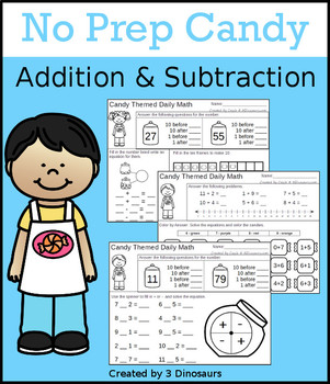 No Prep Candy Addition & Subtraction