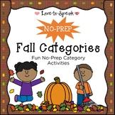 No Prep Categories - Fall Edition