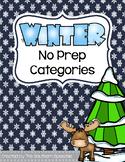 Winter No Prep Categories