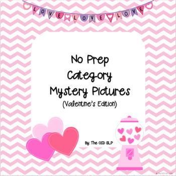 No Prep Category Mystery Pictures (Valentine's Day Edition)