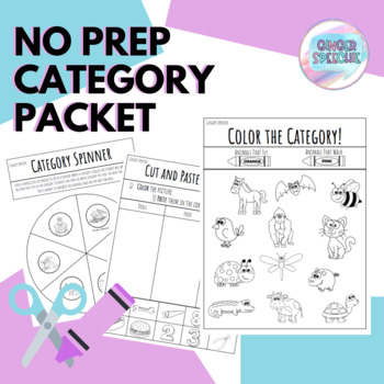 No Prep: Category Packet