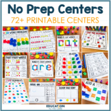 No Prep Centers | First Grade Math Worksheets | Math Centers