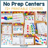 No Prep Centers | First Grade Math Worksheets | Math Cente