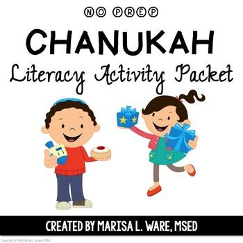 No Prep Chanukah Literacy Activity Packet