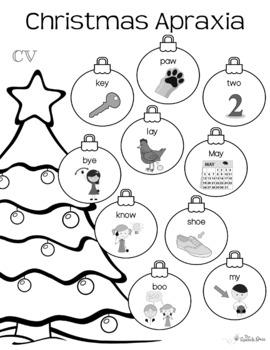 No-Prep Christmas Apraxia