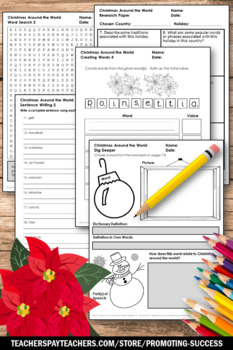 Christmas Around the World Research Project Christmas Vocabulary Word Activities