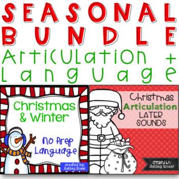 No Prep Christmas Articulation and Language Bundle
