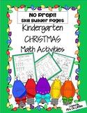 No Prep Christmas Kindergarten Math Skill Builders