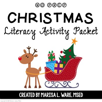 No Prep Christmas Literacy Activity Packet