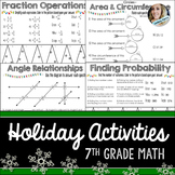 7th Grade Christmas Math Activities