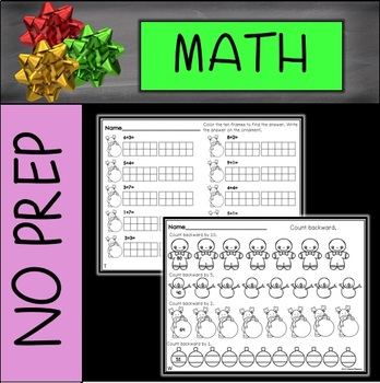 No Prep Christmas Math First Grade