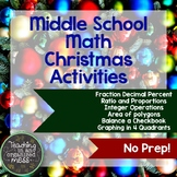 Christmas Math Activities for Middle School Math