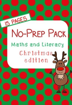 No-Prep Christmas Maths and Literacy (1st Grade)