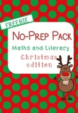 No-Prep Christmas Maths and Literacy FREEBIE