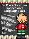 No Prep Christmas Speech and Language Pack