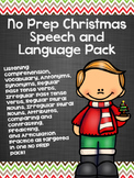 No Prep Christmas Speech and Language Pack