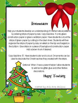 No Prep Christmas Tree Activity