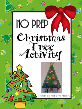 No Prep Christmas Tree Activity