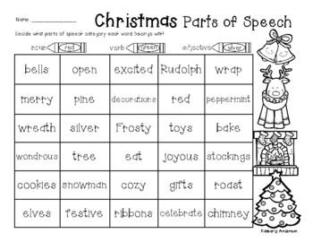 No-Prep Christmas / Winter: Nouns (Person, Place, Thing)