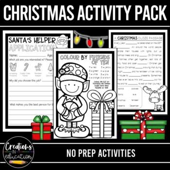 No Prep Christmas Writing Activities Bundle