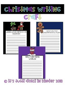 No Prep Christmas Writing Craftivity