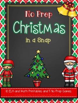 No Prep Christmas in a Snap