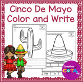No Prep Cinco De Mayo Coloring pages and Sentence Writing Worksheets