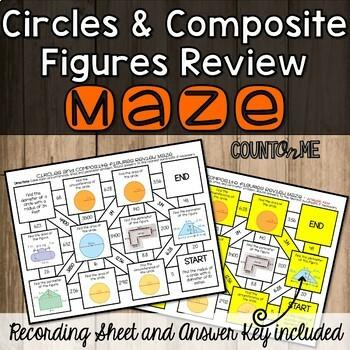 No Prep Circles and Composite Figures Review Maze