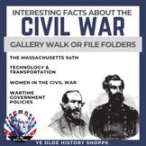 No-Prep Civil War Stations: Massachusetts 54th, Women, Technology & Government