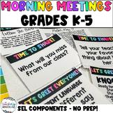 No Prep! Class Meetings - Morning Meetings - Grades 3-5