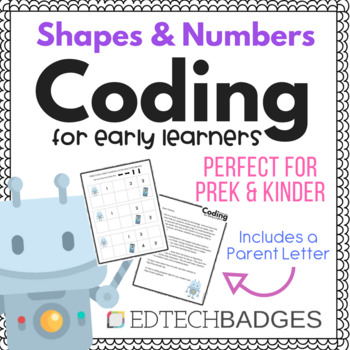 No Prep Coding Unplugged for Prek & Kindergarden