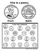 No Prep Coin / Money Recognition Work Sheets - Penny Dime Quarter Nickel