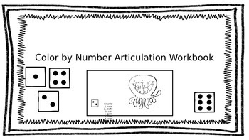 No-Prep Color By Number Articulation Workbook