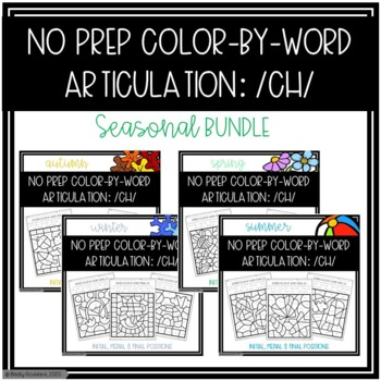 No Prep Color-By-Word /CH/ Seasonal Bundle