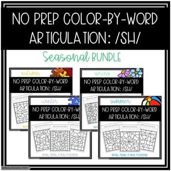 No Prep Color-By-Word /SH/ Seasonal Bundle