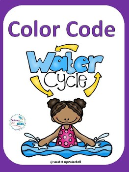 Water Cycle Color Code Science Vocabulary Worksheets