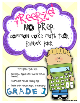 No Prep- Common Core Math Formative Assessments (Data Notebooks)