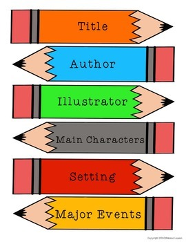 Common Core Literature Pack- Title, Characters, Setting, Major Events