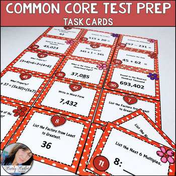 Math State Test Prep 4th Grade Activity