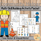 Community Helper Fine Motor and Visual Motor Skills Packet