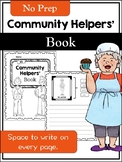 No-Prep Community Helpers' Book