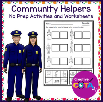 No Prep Community Helpers Worksheets and Activiites