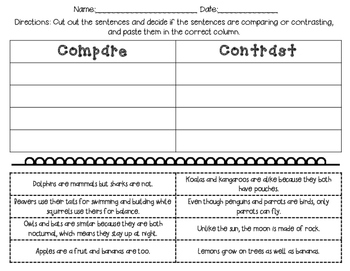 No Prep Compare and Contrast RI.2.9 Texts and Activities