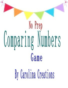 No Prep Comparing Numbers Game 4.NBT.2