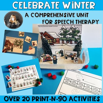 Low Prep Winter Comprehensive Speech and Language Unit #tptsupportsmallshops