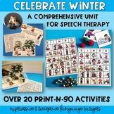 Low Prep Winter Comprehensive Speech and Language Unit #featuresale