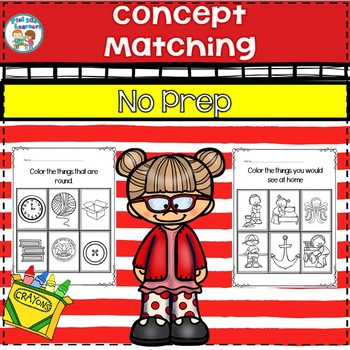 No Prep Concept Matching Worksheets