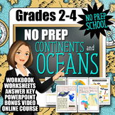 No-Prep Continents and Oceans Resource Pack